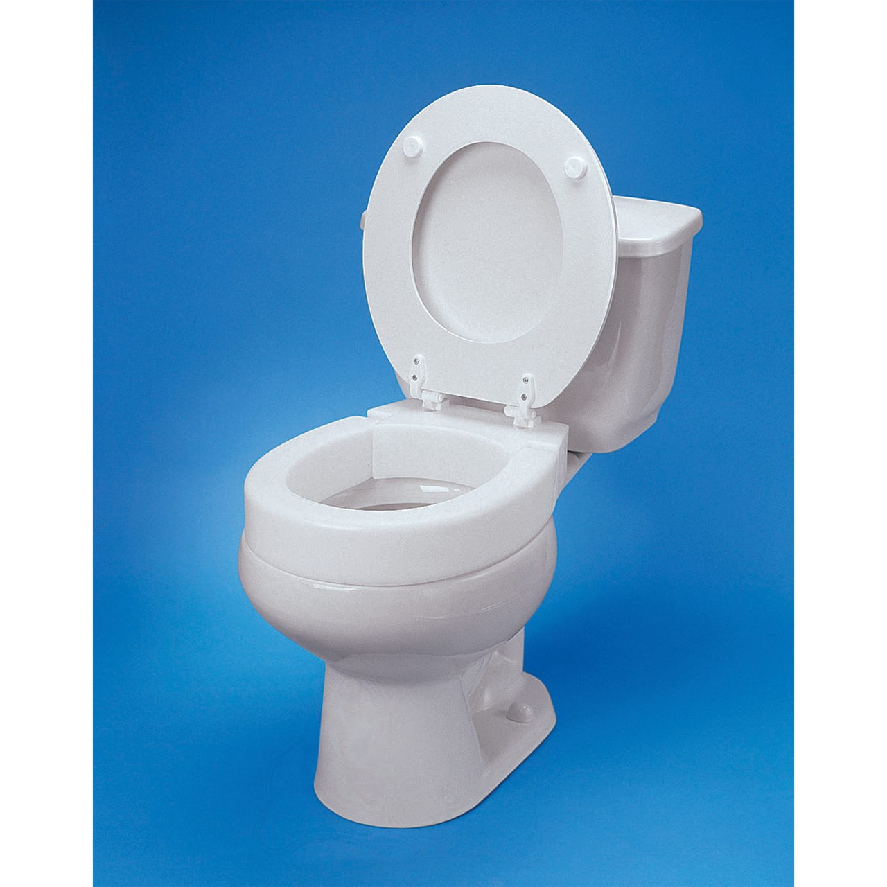 MaxiAids : Hinged Elevated Toilet Seat - Standard